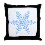 Flurry Snowflake XIV Throw Pillow