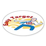 Easy Target Oval Sticker