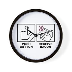 Push Button Receive Bacon Wall Clock