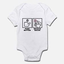 Push Button Receive Bacon Infant Bodysuit