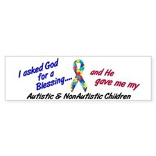 Blessing 3 (Autistic/NonAutistic Children) Bumper Sticker