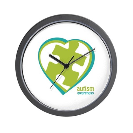 Autism Puzzle-Heart (3GB) Wall Clock