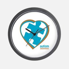 Autism Puzzle-Heart (3BB) Wall Clock