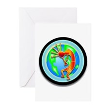 Kokopelli on the Earth Greeting Cards (Pk of 10)