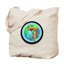 Kokopelli on the Earth Tote Bag