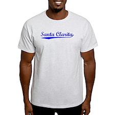 Vintage Santa Clar.. (Blue) T-Shirt