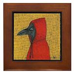 Hooded Crow Framed Tile
