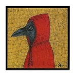 Hooded Crow Art Tile