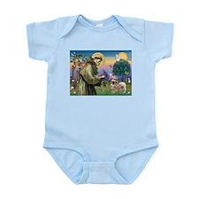 St. Francis & Tibetan Spaniel Infant Bodysuit