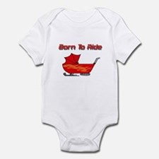 Born To Ride Snowmobile Infant Bodysuit