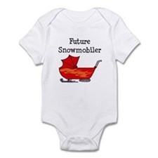 Flamed Stroller Future Snowmobiler Infant Bodysuit