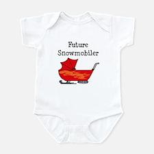 Flamed Stroller Future Snowmobiler Infant Bodysuit