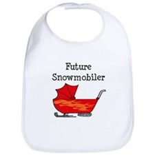 Flamed Stroller Future Snowmobiler Bib