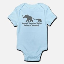 Cartoon Elephants funny Infant Bodysuit