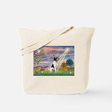 Cloud Angel & Toy Fox Terrier Tote Bag