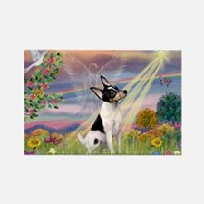 Cloud Angel & Toy Fox Terrier Rectangle Magnet