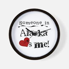 Alaska Loves Me Wall Clock