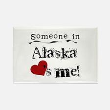 Alaska Loves Me Rectangle Magnet