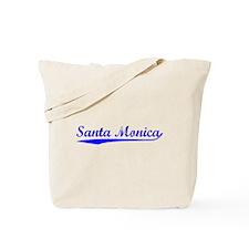 Vintage Santa Monica (Blue) Tote Bag