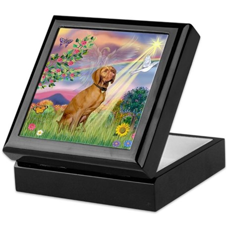 Cloud Angel / Vizsla Keepsake Box
