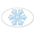 Flurry Snowflake XIII Oval Sticker (10 pk)