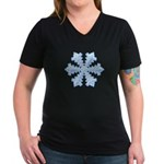Flurry Snowflake XIII Women's V-Neck Dark T-Shirt