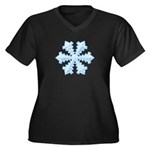 Flurry Snowflake XIII Women's Plus Size V-Neck Dar