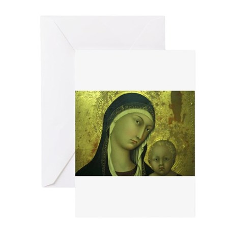 Golden Halo Madonna Greeting Cards (Pk of 10)