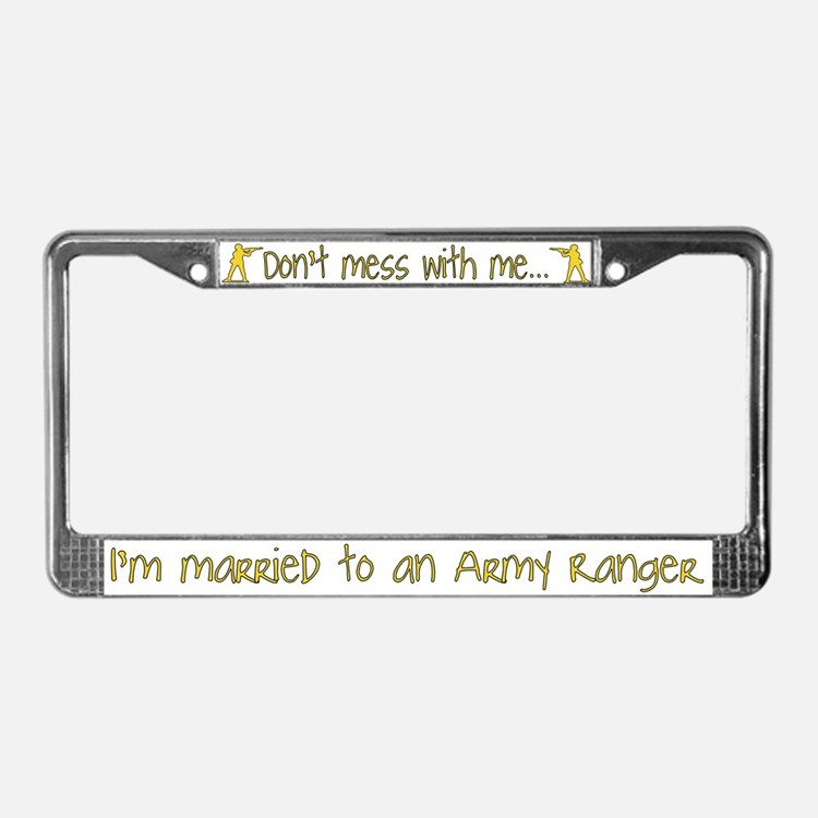 Cute Army soldier License Plate Frame