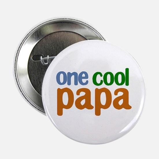 """one cool papa grandpa t-shirts 2.25"""" Button"""