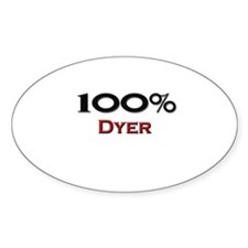 100 Percent Dyer Oval Decal