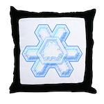 Flurry Snowflake XII Throw Pillow