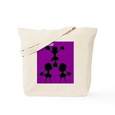 I Cheer Purple Tote Bag