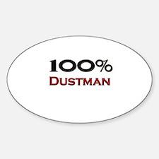 100 Percent Dustman Oval Decal