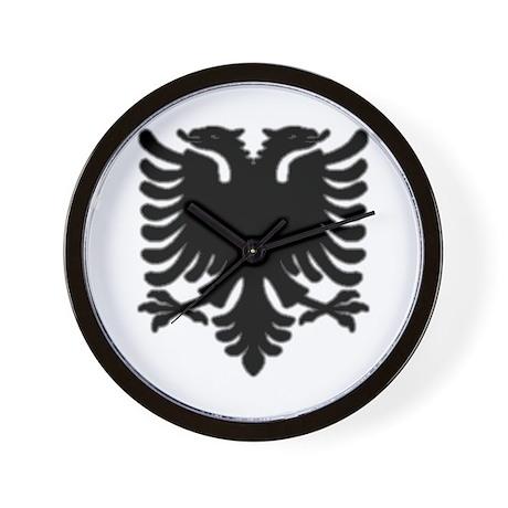 Black Albanian Double Headed Wall Clock