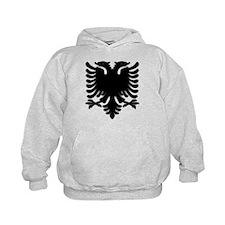 Black Albanian Double Headed Hoody
