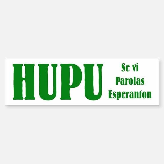 Honk if you Speak Esperanto Bumper Bumper Bumper Sticker
