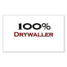 100 Percent Drywaller Rectangle Decal