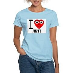 I (Heart) Art Women's Pink T-Shirt