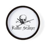 Rubber Stamper - Skull & Cros Wall Clock