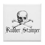 Rubber Stamper - Skull & Cros Tile Coaster