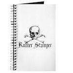 Rubber Stamper - Skull & Cros Journal