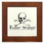 Rubber Stamper - Skull & Cros Framed Tile