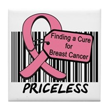 Breast Cancer Cure Priceless Tile Coaster