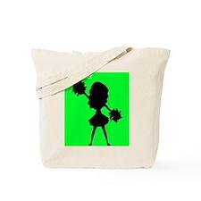 I Cheer Green Tote Bag