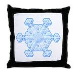 Flurry Snowflake XI Throw Pillow