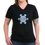 Flurry Snowflake XI Women's V-Neck Dark T-Shirt