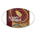 Crafts - Embellishment Oval Sticker (10 pk)