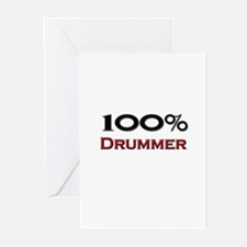 100 Percent Drummer Greeting Cards (Pk of 10)