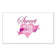 Sweet Sixteen! Rectangle Decal